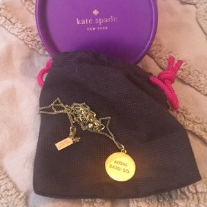 Kate spade Mom Said So necklace. NWOT